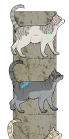 :: Marked Cat Adoptables :: by Zenithical