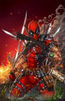 Deadpool vs Disney, J. Tyndall by sinhalite