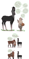 satyrs and centaurs by domirine