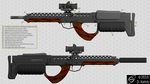 Tama's Justiciar Heavy Rifle - Detail Sheet by doug7070