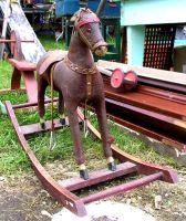 Vintage Rocking Horse 2 by Falln-Stock