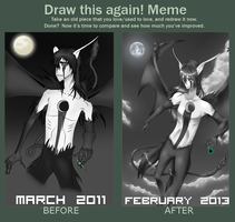 Meme: March 2011 And February 2013 by Noizora