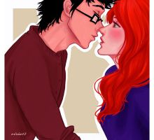 c'mon,Evans,just one kiss.. by viria13