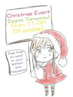 Christmas Event (WEBSITE LINK POSTED!) by Akiraka-chan