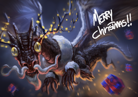 Christmas Dragon sketch by Markdotea