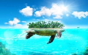 Turtle_Island_by_kirkh by InfiniteCreations