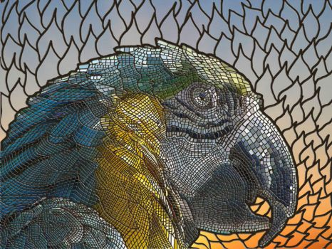 Macaw Mosaic by Robotlick