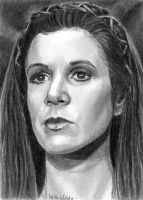 ROTJ Leia Sketch Card 2011 by khinson