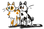 Swiftpaw and Brightpaw by Catacyt