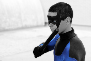 Nightwing- Winter back Home by BeastLiberatedHC