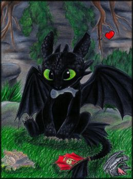 Toothless - some more fish by Xx-Syaoran-kun-xX