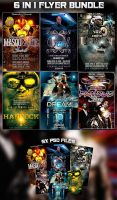 PSD 6 IN 1 FLYER BUNDLE by retinathemes
