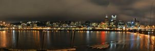 Portland At Night Panorama. by masterdevil89