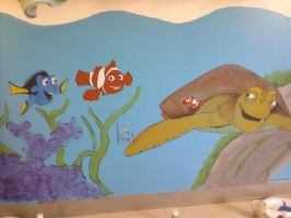 Mural 1 - Finding Nemo by Naatta