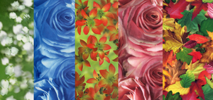Flower scrapbook papers by Magini