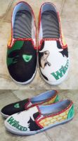 Wicked Custom Shoes by ThatArtKid