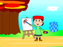 Adeleine painting by PikachuFan60