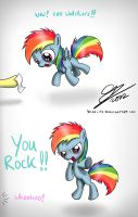 Dashie says thank you by Dori-to