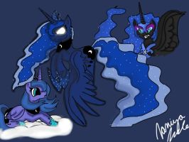 The three faces of the night by BrutishlyBritish