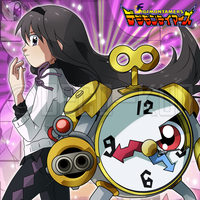 Commission - Homura and Clockmon by Deco-kun