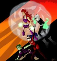 New Teen Titans by NileGal