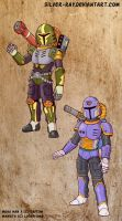 Vile from Mega Man X as SW Mandalorian armors by Silver-Ray