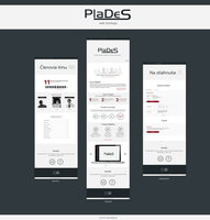 Web design (mockups) for application PlaDeS by jozef89