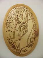 Two of Hearts- wood burning by RavingPink