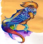 Colorful Creature: Lion Budgie by mooseofkonoha