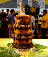 Chocolate Wedding Cake by art3m1s