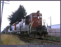 Evening in Coos Bay by classictrains
