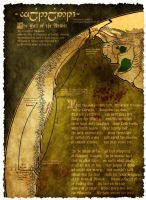 The Flight of the Noldor - map from the First Age by Astrogator87