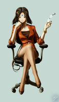 Office Lady Peorth by EastCoastCanuck