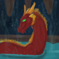 Dragon in cave by dragonrace
