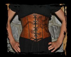 octopus leather corset by Lagueuse