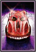 Corvette Skull Car - Red by Geosammy