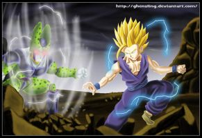 Gohan Vs Cell by Ghensling