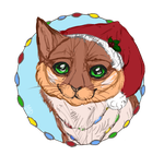 Christmas cat by Moldovorot
