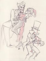 A Joker, Harley and Professor by zillabean