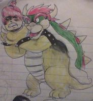 Toddler Jenny conjoined with Bowser by skatergirl747