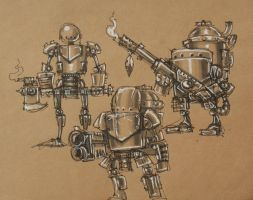 Rusty Robot Specialist Sketch by SpaceCowSmith