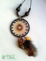 Oak Spirit dreamcatcher pendant by SuvetarsWell