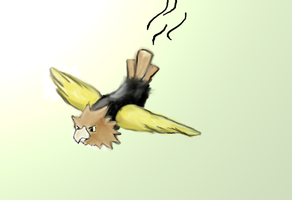 Shiny Spearow by RayCrystal