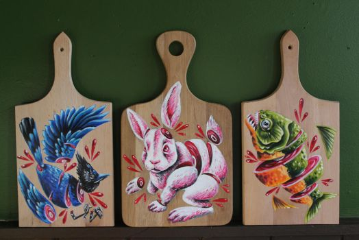 Cutting boards by Little-Spaz