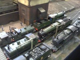 A busy day at the railway yard by YanamationPictures