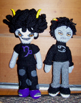Karkat and Gamzee amigurumi by voided-knight