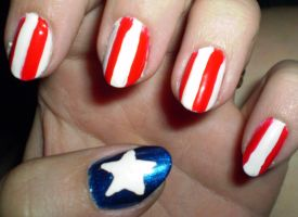 4th of July nails by shadowcat-666