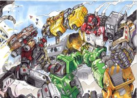 TFLH Superion VS Devastator by G1d4n
