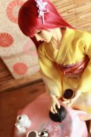 BJD kimono, Morning Tea by InarisansCrafts