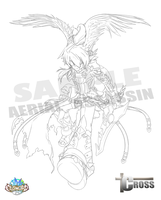 [Elsword RPs] Aerial Assassin - lineart - by ClairSH